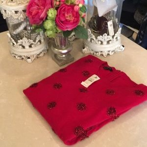 Talbots red Christmas sweater